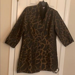 NWOT Connie Roberson stylish silk jacket size Med
